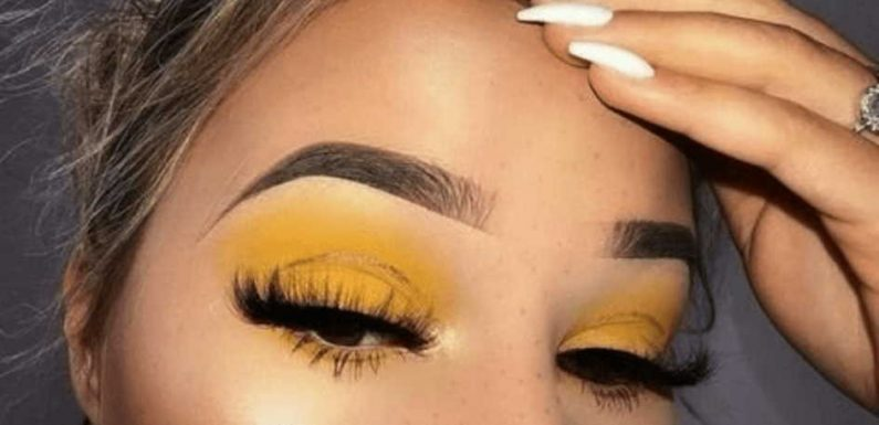 orange eye shadow